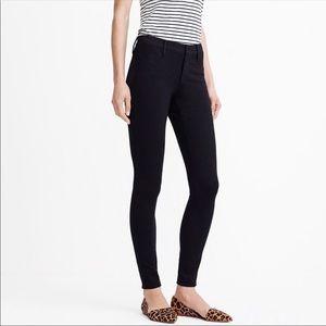 J crew Gigi pants Sz 0 black ponte knit pockets